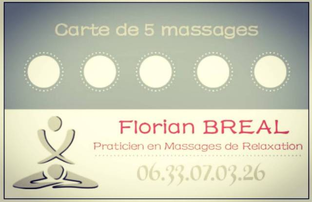 CARTE 5 Massages